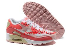 detailed look cb882 b14ae Nike Air Max 90 Hot Punch White Storm Pink Beach Womens Shoes  Pink  Womens
