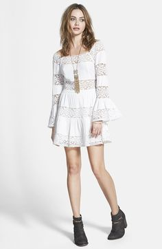 Free People 'Pippa' Gauze Fit & Flare Dress available at #Nordstrom