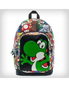 Nintendo Yoshi Eject Backpack Spencers Online b9259576254b6