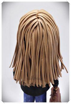 Peinado fofucha con maletín
