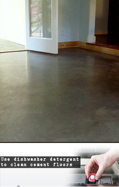 The fastest and most effective method for scrubbing cement floors