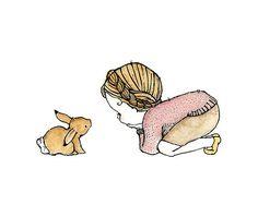 Nursery Art Trafalgar Rabbit Catch A Falling by trafalgarssquare