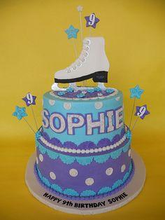 Sophie's Ice Skating Birthday Cake