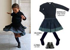 Turning skirt Look : Merveilles/Clotaire/Collégien | Mum is Geek - trend spotting for hype mummies : mode enfants, shopping, déco, jouets, design, blogs
