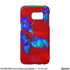 Red Sky Blue Leaves Samsung Galaxy 7 case