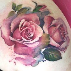 Lianne Moule immortalink.co.uk  watercolor style tattoo
