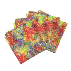 Amarela Dinner Napkins featuring HOLI HINDU FESTIVAL OF COLORS KOLKATA by paysmage | Roostery Home Decor