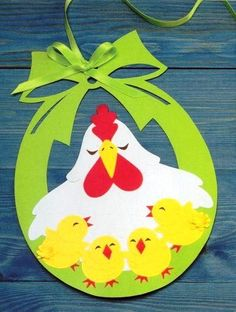 Cute Easter ideas from the paper! Kirigami chicken and rabbits for Easter ornaments and Easter cards. Easter Art, Easter Crafts For Kids, Diy For Kids, Easter Ideas, Felt Crafts, Diy And Crafts, Arts And Crafts, Paper Crafts, Easter Activities