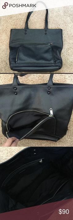 Milly Black Tote Measurements are 13x11x6. Milly black leather Tote NWOT. Never used in perfect condition. Milly Bags Totes