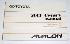 1997 toyota avalon owners manual book owners manuals pinterest rh pinterest com 2000 Toyota Avalon 2000 toyota avalon owners manual pdf