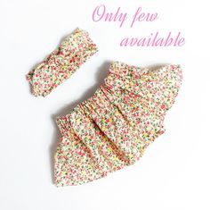 Set of a sweet petite flower skirt and a top knot bow headband. Both in very soft cotton. Sweet for the summer with the little baby girl.    Size newborn - 6 months    ONLY AVAILABLE FOR A LIMITED TIME | Shop this product here: spree.to/atcv | Shop all of our products at http://spreesy.com/JewelsByScarlett    | Pinterest selling powered by Spreesy.com