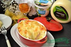 Paste cu sos de branza si cascaval Paste, Mashed Potatoes, Macaroni And Cheese, Pizza, Pudding, Cooking, Ethnic Recipes, Desserts, Food