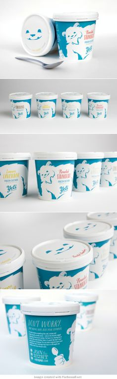 Yeti Frozen Custard : your daily #packaging smile : ) PD