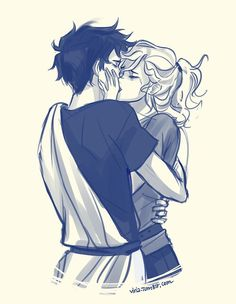 Imagem de percabeth, percy jackson, and annabeth chase