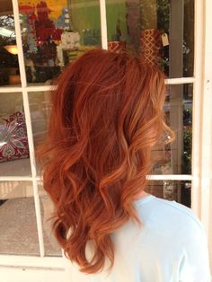 Copper red hair color!!! My favorite!