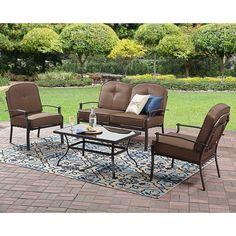 Indoor Outdoor Small Bistro Dining Patio Furniture 4 Piece Garden Set Classic #DealsToday