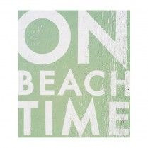 On Beach Time Wall Art - Bring home your love for the coast into your home, whether it be land-locked or by the shore!