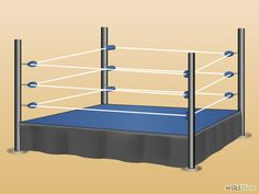 How to Make Your Own Wrestling Ring. If you're a big wrestling fan, you've probably dreamed of having your very own wrestling ring in your backyard. Buy four tall wooden posts. Wrestling Ring Bed, Wrestling Cake, Wrestling Party, Nwo Wrestling, Wrestling Birthday Parties, Wwe Birthday, Birthday Ideas, Chambre Wwe, Diy Wwe