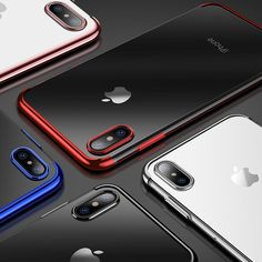 0ddd1b2f2 Luxury Crystal Clear Cases For iPhone X Ultra Slim Soft Transparent Glossy