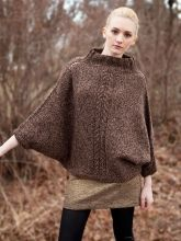 FREE PATTERN - A beautiful cross between a sweater and a poncho, this top-down seamless pullover features decorative eyelet increasing along the shoulders. - Lovely detail on shoulder seams! Looks harder than it is - You Can Make It!!! | Berroco