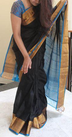 Black Pure uppada silk saree