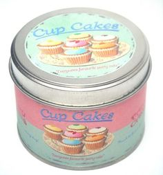 Cup Cakes Tinned Scented Candle