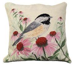 Chickadee Decorative Pillow