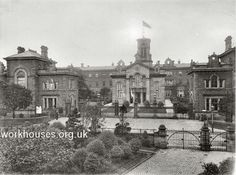 Chorlton workhouse from the south, early 1900s.
