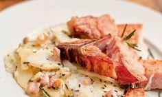 Receita de Costeletas defumadas com batata cozida - Carne - Dificuldade: Fácil