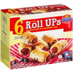 JCP Country Classics Roll UPs Sausage Links in Blueberry Rolls, 6 count, oz Pancake Sausage, Snack Recipes, Snacks, Donut Glaze, Sausage Rolls, Roll Ups, Grocery Lists, Freeze, Family Meals