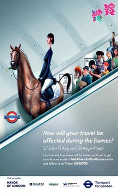 London Olympics Poster - it will be hell. I would flee London, if I had not good friends from Rio de Janeiro, Brazil visiting...