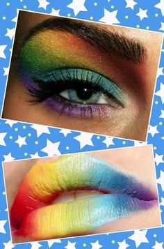 Rainbow stuff is way cooler than any other colours Rainbow Things, Rainbow Stuff, Taste The Rainbow, Over The Rainbow, Rainbow Colors, Little Miss Matched, Tie Dye Rainbow, Rainbow Makeup, Crazy Makeup