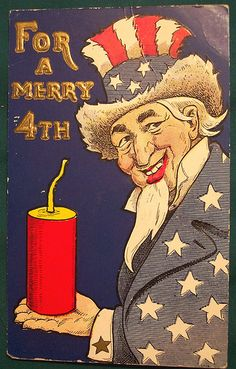 Vintage Fourth of July Postcard (Uncle Sam)