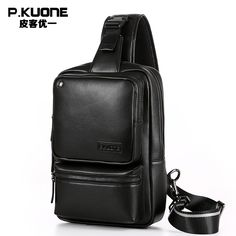 66.24$  Watch here - http://ali6rv.shopchina.info/go.php?t=32725869633 - P.KUONE Men leather chest crossbody bag Casual men messenger bag high quality chest waist pack genuine leather messenger bag men 66.24$ #shopstyle