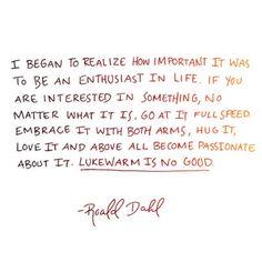 Roald Dahl - enthusiast