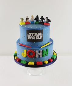 Oklahoma City Cakes - Star Wars and Lego Police Birthday Cakes, Star Wars Birthday Cake, Paw Patrol Birthday Cake, Lego Birthday, Birthday Boys, Star Wars Torte, Star Wars Cupcakes, Star Wars Cake, Lego City Cakes