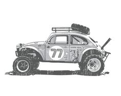 The Baja Bug is an icon of So-Cal car culture. Typical of all west coast no 2 are alike, and their beauty lies in the personal touch and craftsmanship of their rough neck builders. These cars were ori