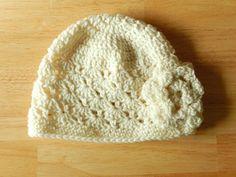 Womens Crochet Flower Hat