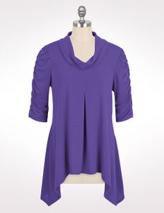 this color -  Ruched Cowl Neck Top | dressbarn