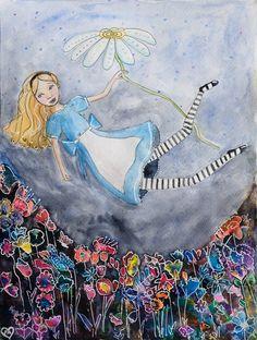 Alice Falling into the Flower Garden