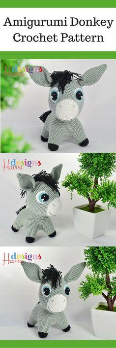 Amigurumi Donkey Crochet Pattern Printable #ad #amigurumi #amigurumidoll #amigurumipattern #amigurumitoy #amigurumiaddict #crochet #crocheting #crochetpattern #pattern #patternsforcrochet #printable #instantdownload #donkey