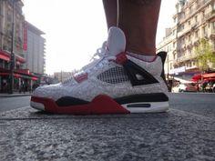 Penny Hardaway Air Jordan IV White Laser 540x405 Basketball Sneakers, Sneakers Nike, Penny Hardaway, Air Jordan Iv, Baskets Nike, Latest Sneakers, Mafia, Old School, Kicks