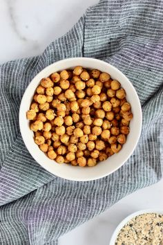 Whip up air fried chickpeas in just a few minutes. Plus, you get to customize and choose what spices or seasonings you like best. Add these Air Fryer Roasted Chickpeas to soups, salads, or enjoy as a healthy snack! #AirFryer #RoastedChickpeas #HealthySnack #Spices Vegetarian Breakfast Recipes, Chickpeas, Recipe Of The Day, Healthy Snacks, Soups, Fries, Salads, Roast, Nutrition