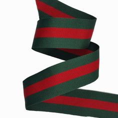 Striped Gross grain Red Green Trim Ribbon Double Face by KBazaar Gucci Fashion, Gold Fashion, Diy Fashion, Boutique Bows, Arts And Crafts Supplies, Red Stripes, Grosgrain Ribbon, Red Green, Arts And Crafts