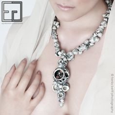 PEARL-CELAIN COLLECTION necklace NEW HOPE porcelain, engobes, zircon