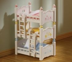 Sylvanian Families Triple Bunk Beds Action- & Spielfiguren Assorted colors