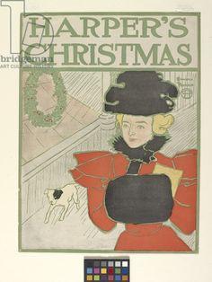 Harper'S Christmas (colour lithograph), Penfield, Edward (1866-1925) / Indianapolis Museum of Art, USA / Museum acquisition / Bridgeman Images