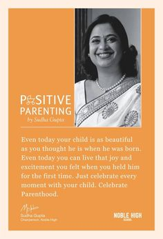 Parenting is a joy that blossoms at the time of expecting a child & lasts for a lifetime. But many people tend to overlook the everyday dose of pleasure in parenting, in raising an essence of our own lives. To help you realize the true meaning of this glorious & rewarding journey, we present you the golden words of wisdom coming straight from the renowned parenting expert, Mrs. Sudha Gupta. She believes in the fact that parenting is not merely about raising children, but also raising…
