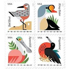 Coastal Birds Stamps