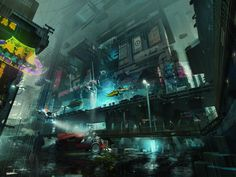 ArtStation - Obsidian Reverie_City block, Brad Wright